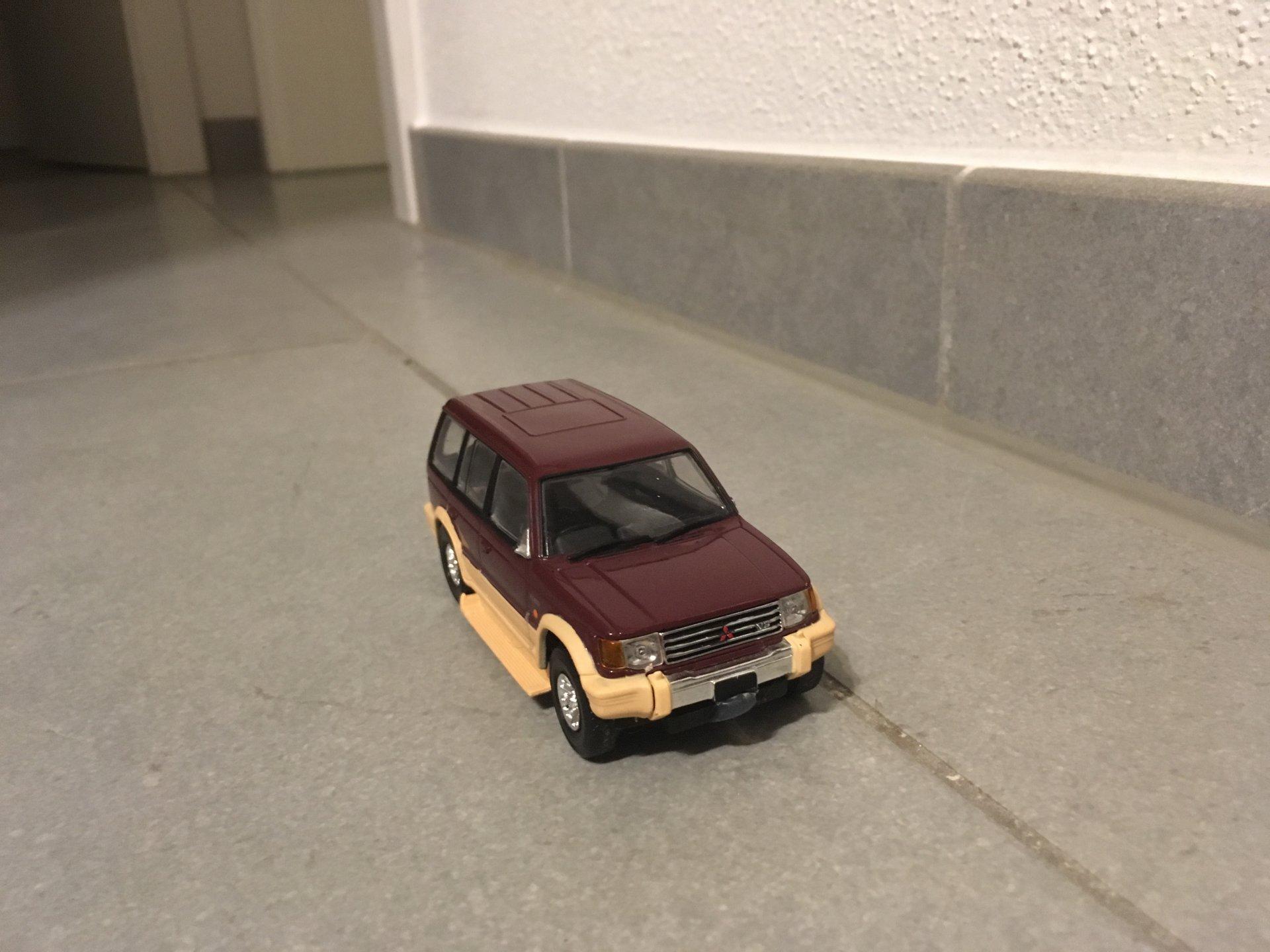 Test einer Ersatz-Karosserie