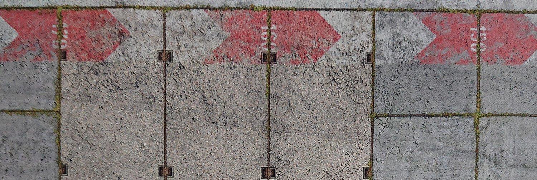 Streckendetail – Zentimeterskala am Rand